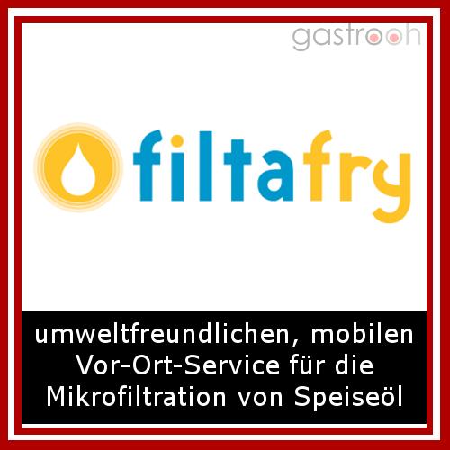 filtafry- Filtern von Frittierfett und Reinigung der Fritteuse durch Servicekräfte vor Ort
