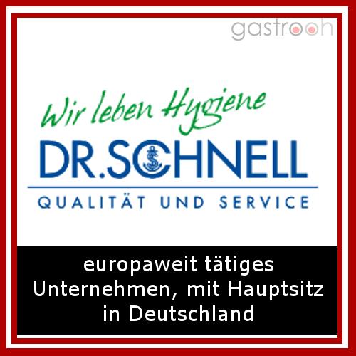 Dr. Schnell- Die DR.SCHNELL Chemie GmbH, als selbständiges und inhabergeführtes Unternehmen, bekennt sich klar zum Standort Deutschland. Alle Produkte werden im Werk München mit modernster Technologie und mit höchstem Qualitätsanspruch produzirt.