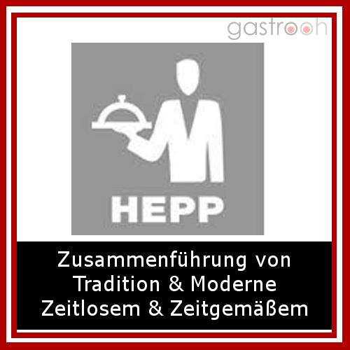 HEPP zählt zu den bedeutendsten Anbietern rund um den gedeckten Tisch und ist Marktführer in Bezug auf Angebotsvielfalt.