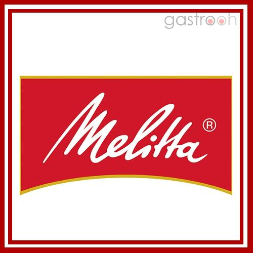 Melitta verkauft nicht nur Haushaltsmaschinen, sondern naatürlich auch Profigeräte. Natürlich gibt es auch Kaffee, Tee und Kakao für die Gastronomie
