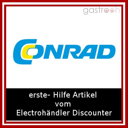 Conrad- Ja, Conrad der Elektrofachmarkt hat auch erste Hilfe Ausstattungen