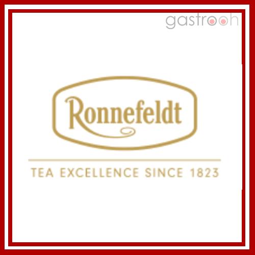 Ronnefeldt stellt gerade für die Gastronomie ein großes Angebot. Loser Tee oder im Beutel.