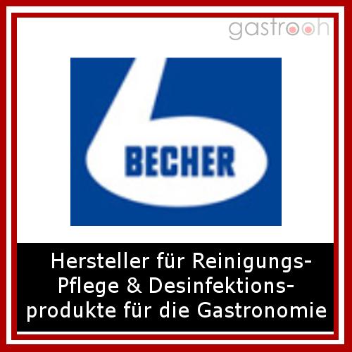 Dr. Becher- Dr. Becher ist der Markenhersteller für Reinigungs- Pflege und Desinfektionsprodukte für die Gastronomie und lebensmittelverarbeitende Unternehmen.