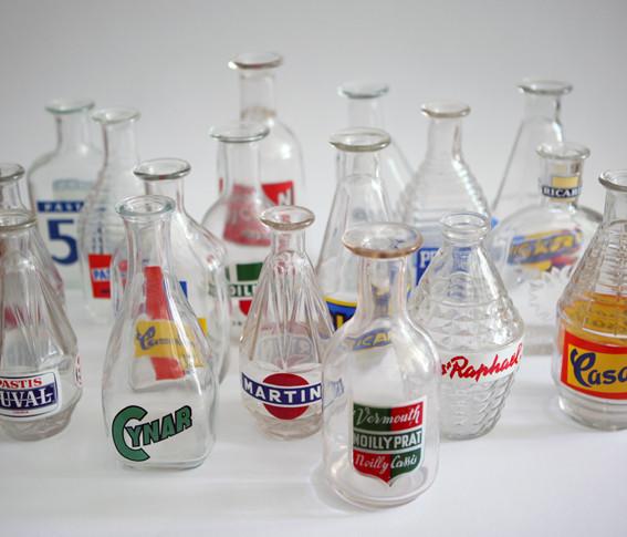 50er Jahre Glaskaraffen Werbung