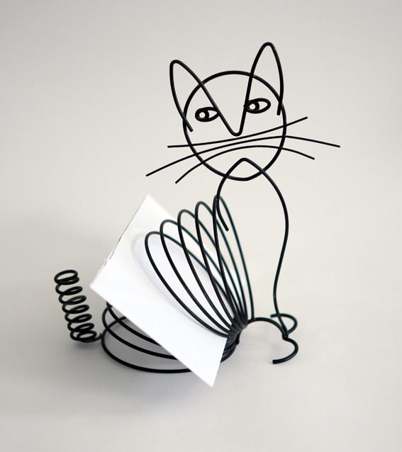 Katze-Drahtfigur