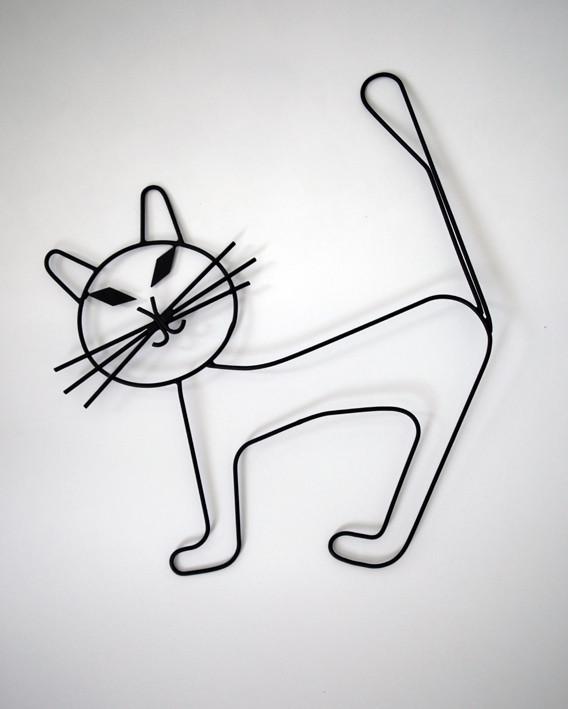 Wanddekoration Katze
