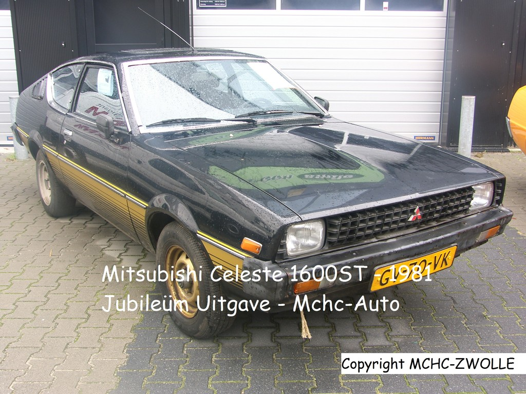 Mitsubishi Celeste jubileúm uitgave Zwart