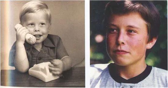 Elon Musk de niño