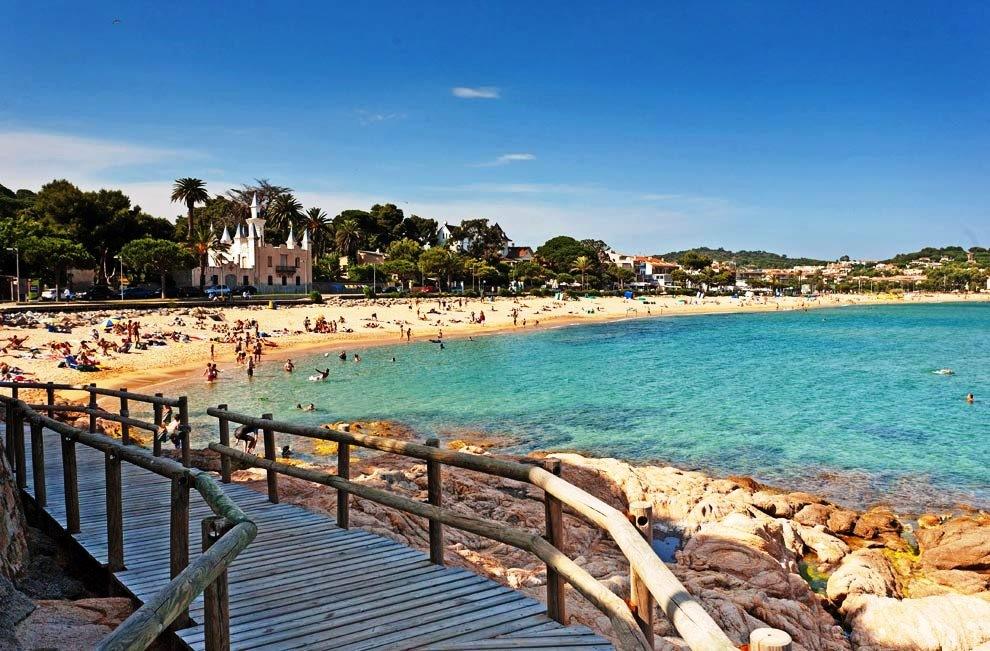Вид на пляж Сант Пол, Испания