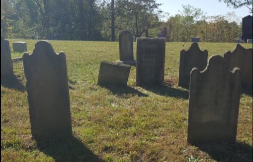 Corn Creek Baptist Church Cemetery. Photo courtesy of Tina Mitchell Boutall for the Trimble County Historical Society of Kentucky. 14 Oct 2017.