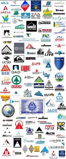 Logos d'institutions basés sur le triangle - Cliquer pour agrandir