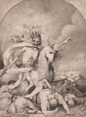 """Le """"Cheval Pâle"""" est le nom du quatrième """"Cavalier de l'Apocalypse"""". Il incarne la Maladie, l'Epidémie et la Mort dans les allégories traditionnelles - Cliquer pour agrandir et"""
