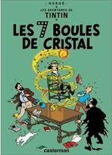 La page de garde de l'album Les 7 Boules de Cristal des Aventures de Tintin illustre le mouvement de l'énergie par la boule de feu tournoyant autour du Professeur Tournesol, dans le sens des aiguilles d'une montre