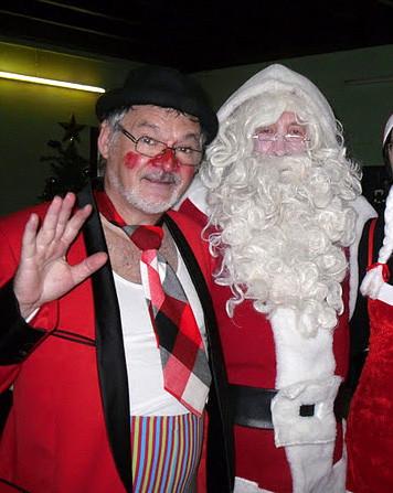 Poc et Pic Clown et père Noël