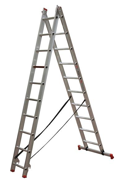 Escalera de dos tramos tienda online escaleras de aluminio for Escalera de aluminio extensible 9 metros