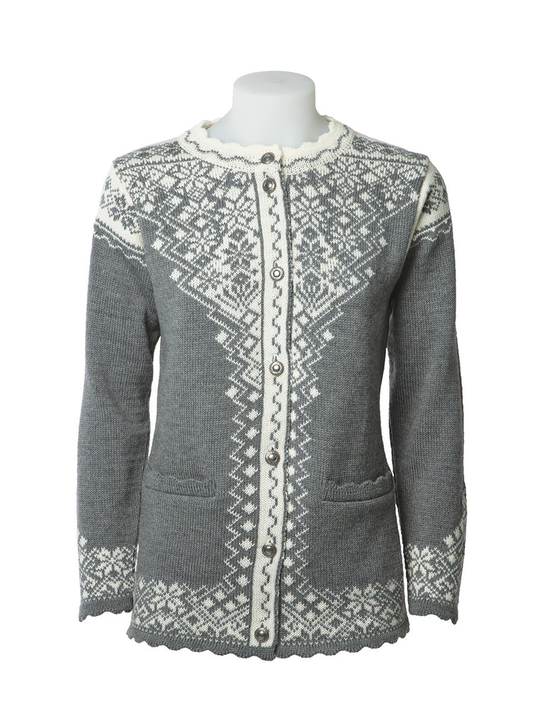 d712ae55387 Norlender Womens Nordic Cardigan Wool Sweater - Sweater Chalet
