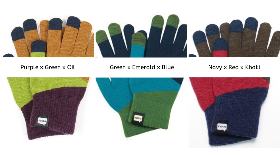 TORI-CO2 Evolg Touch Screen Gloves Knit One Size Fits All