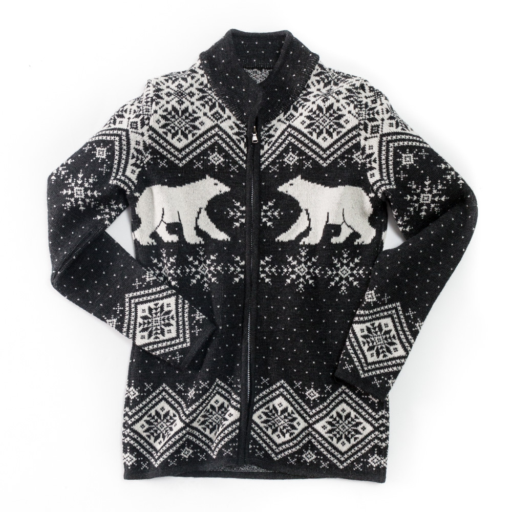 Vrikke Norwegian Sweater - Polar Bear Cardigan - Sweater Chalet