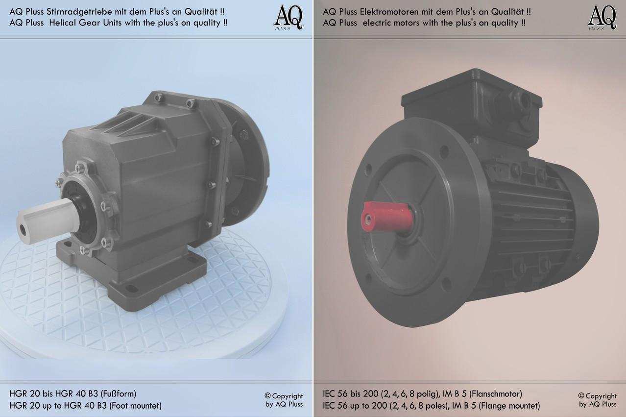 230v stirnradgetriebe mit mot b3 elektromotor von aq. Black Bedroom Furniture Sets. Home Design Ideas