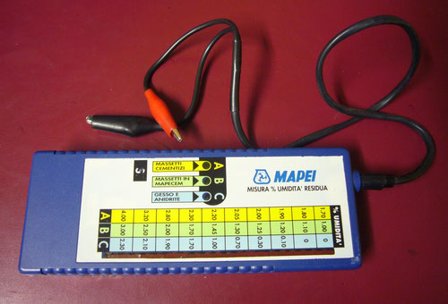 Igrometro elettronico per massetti idraulici