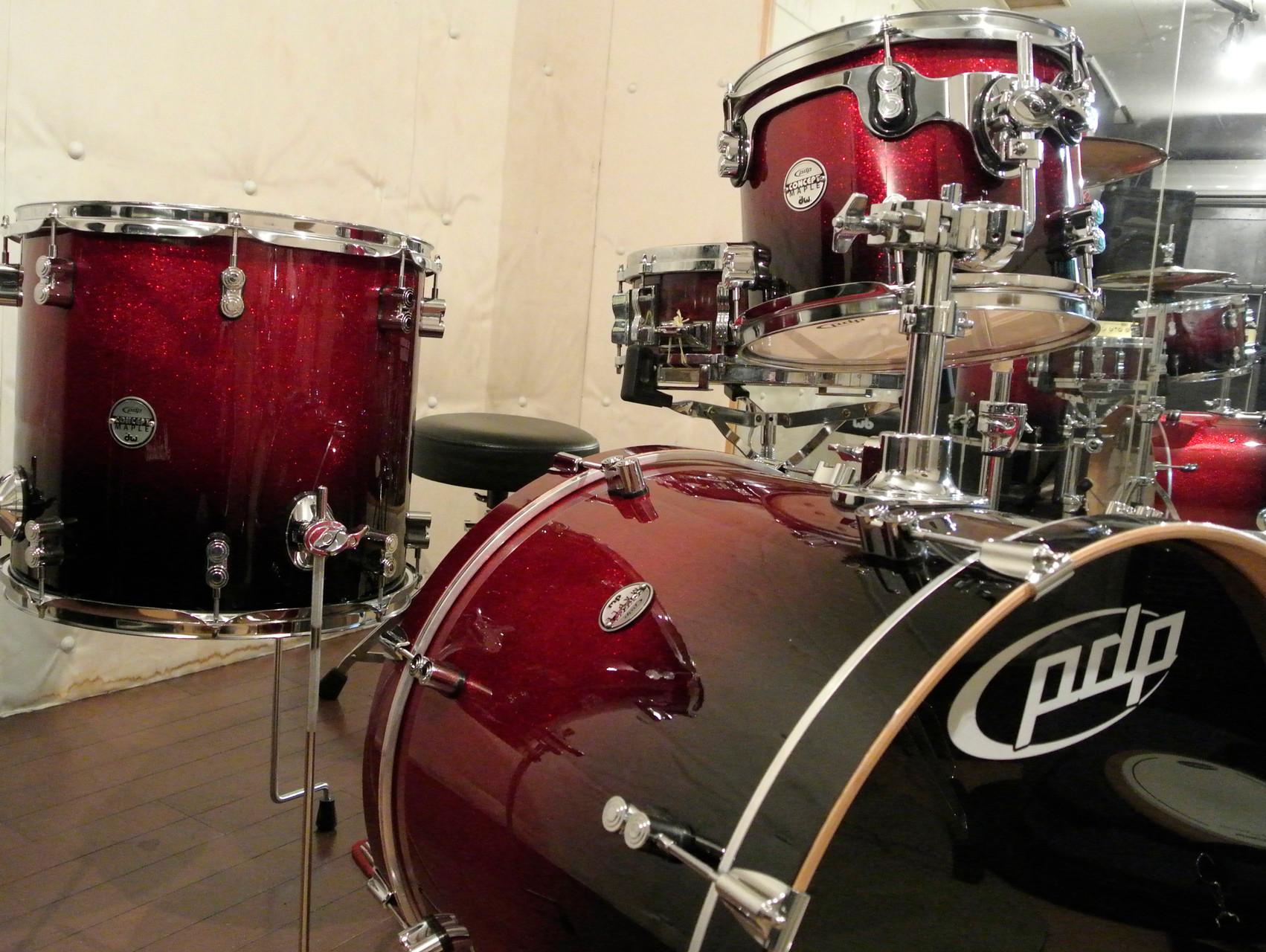 パシフィックドラムパーカッションのセット