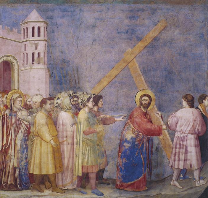Giotto - Gesù prende la croce e sale al calvario