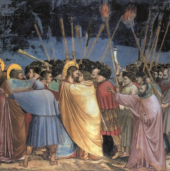 Giotto - Bacio Giuda arresto Gesù