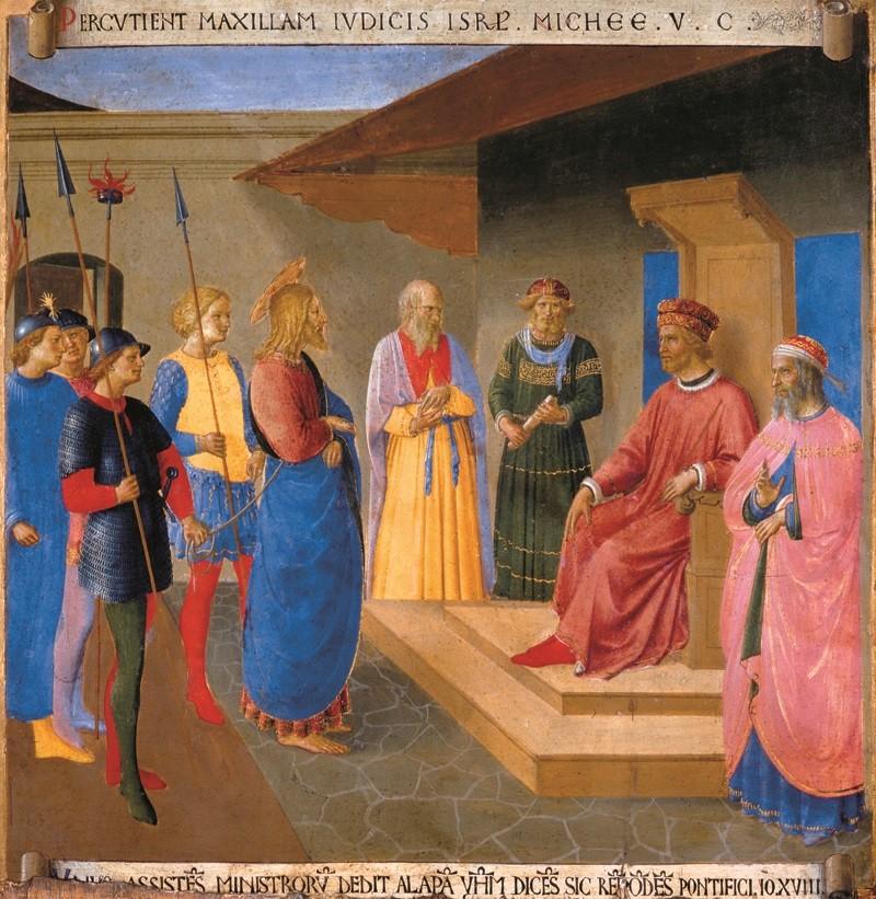 Beato Angelico - Gesù davanti a Caifa
