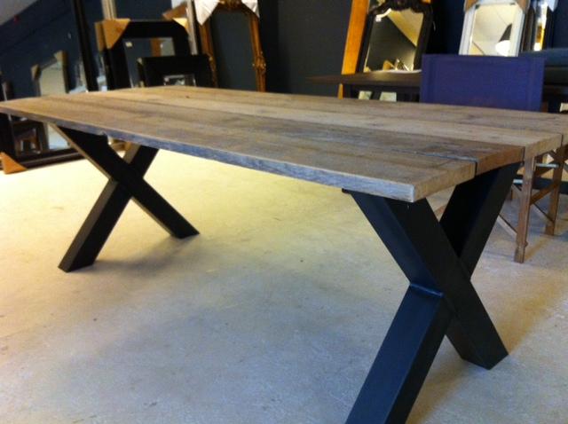 Industriele Tafel Goedkoop : Industrie tafel bstock vintage industrie tafel met glazen blad