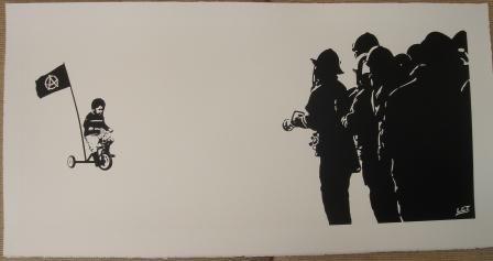 Street Art Bild von John Doe aus England.