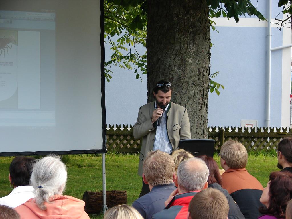 Der Obmann unserer Regionalgruppe bei der Eröffnungsrede. Foto: Jasmin Frühwirth