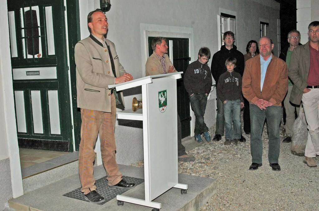 Eröffnung der Luchsausstellung am 19.04.2007 , Wildbiologe Christopher Böck bei seinem Referat