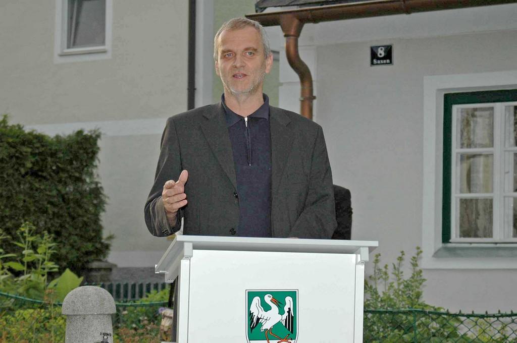Gottfried Schindlbauer, Leiter der Naturschutzabteilung        10.06.2006          Foto: Alois Kaltenböck
