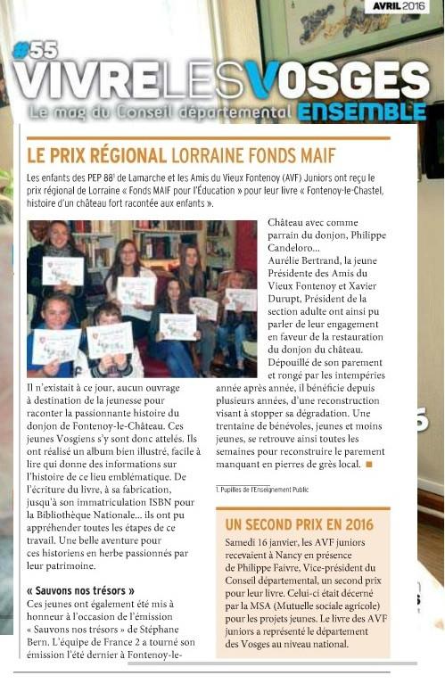 Vivre les Vosges ensemble - Avril 2016