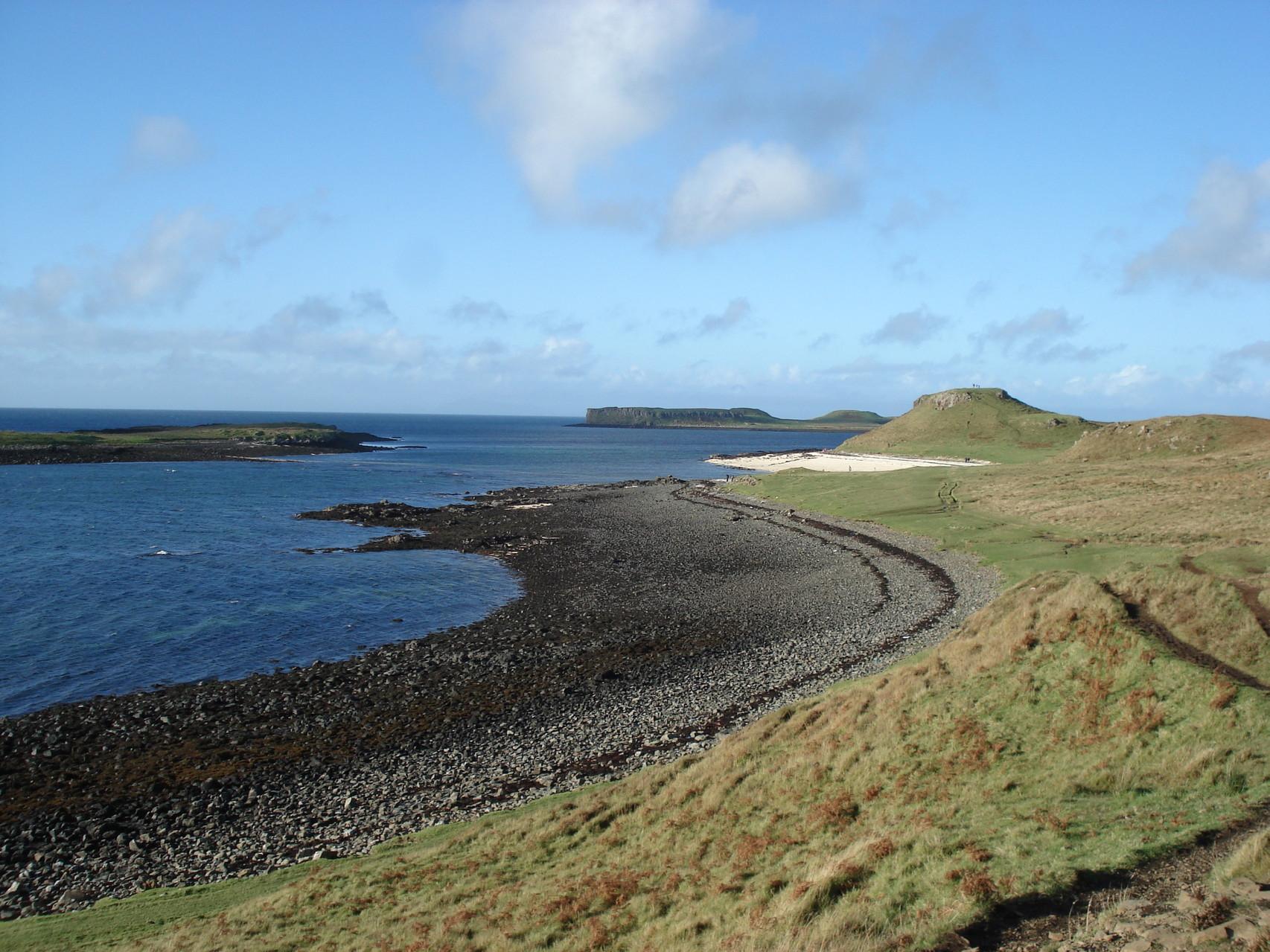 Korallen Strand im norden Schottlands