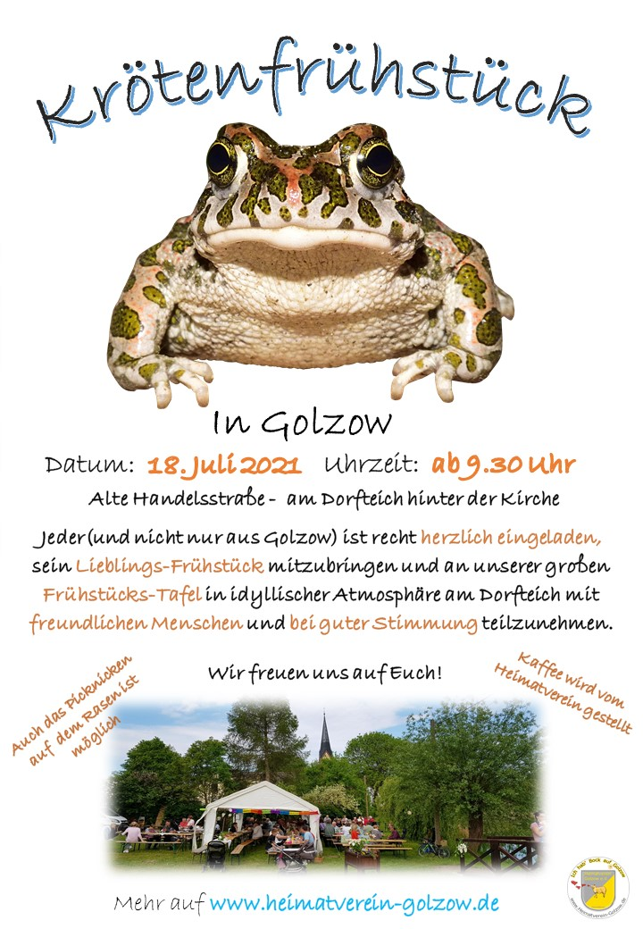 Krötenfrühstück Golzow 2021
