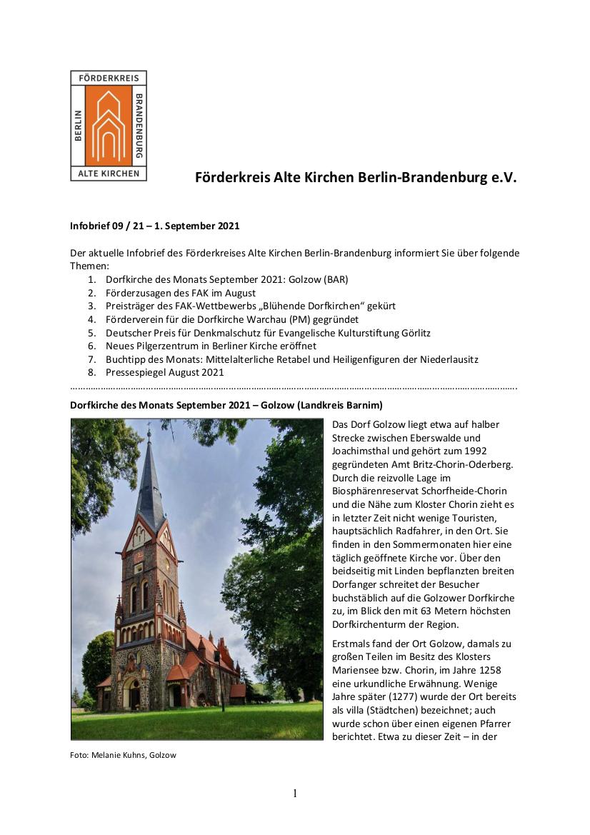 FAK-Infobrief Seite 1