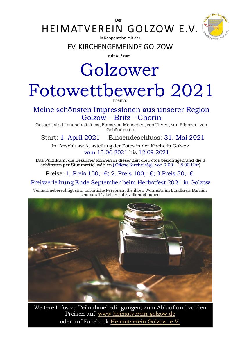 Flyer Fotowettbewerb 2021