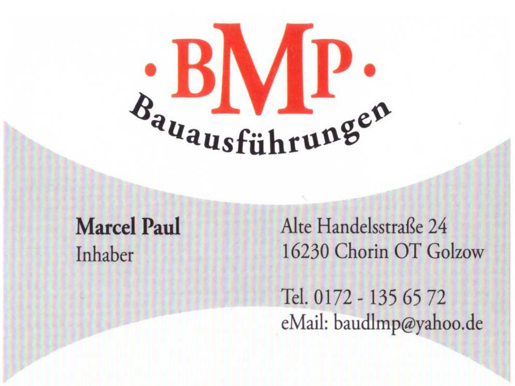 Fa. BMP Bauausführungen