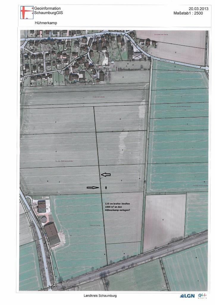 hier sind  1800  m² einfach im Feld verschwunden allerdings schon sehr sehr lange