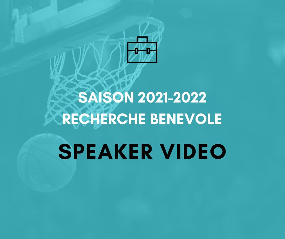 Saison 2021-2022 : Le MBC recherche un bénévole Speaker Vidéo