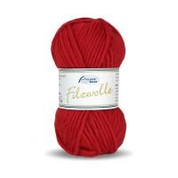 Strickfilzwolle Rot