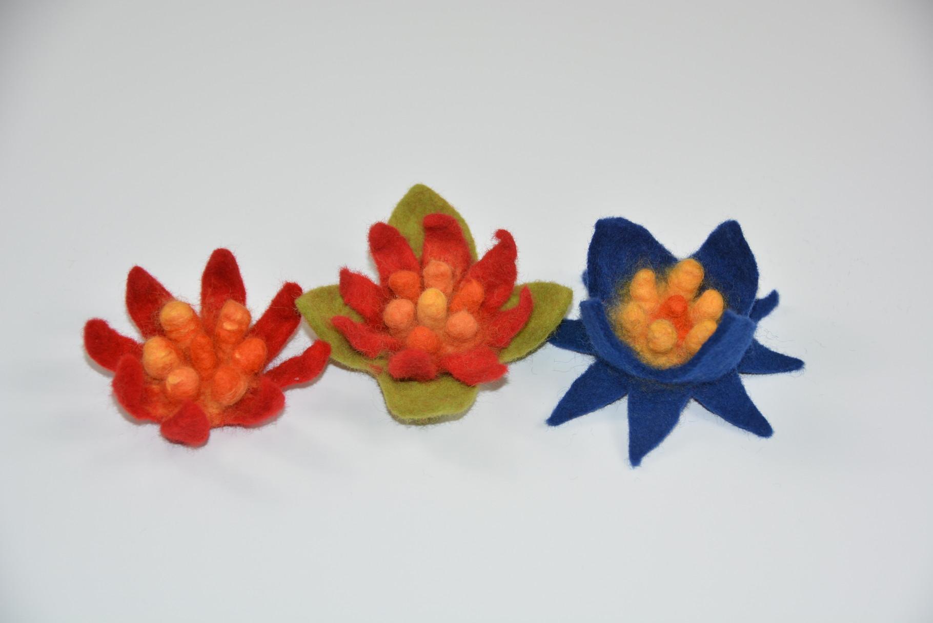 Beispielbild: fertige Upwolfing-Blumen