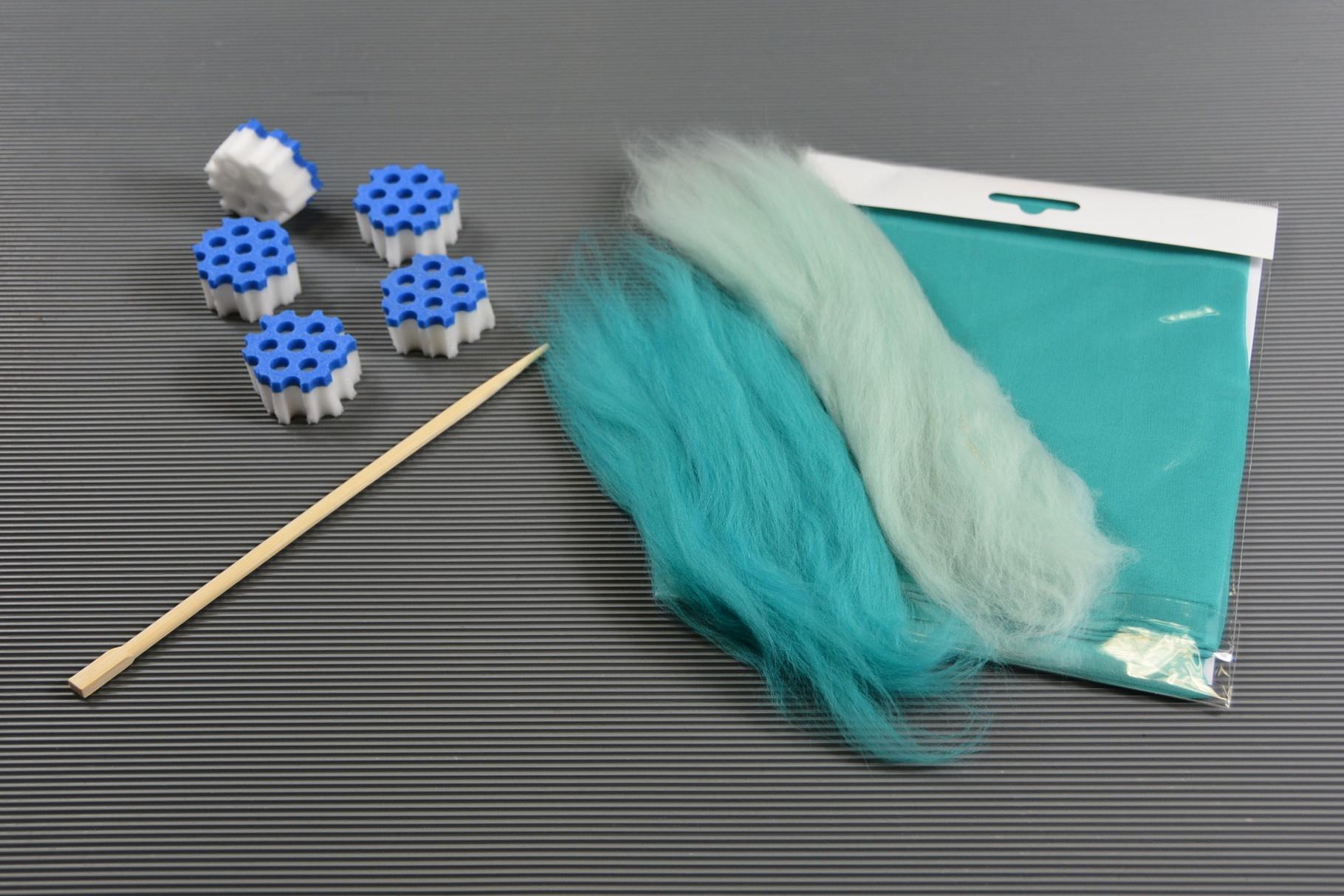 Material zu Anleitung Seidenschal mit Upwolfing-Elementen
