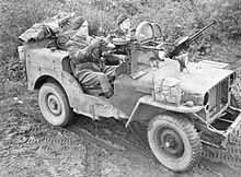 Jeep SAS en Europe, 18 novembre 1944.