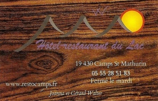 Camps Saint-Mathurin Hôtel Restaurant du Lac