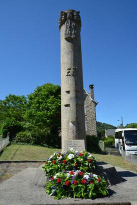 Mémorial à Aynes commune de Chalvignac (15)