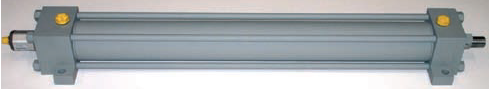 hydraulic cylinder, standard cylinder ISO 6020/2, with linear magnetostrictive transducer, kompaut,