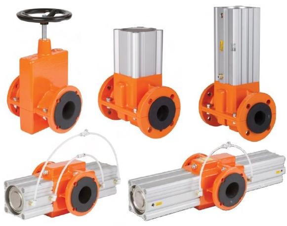 mechanic pinch valves, full pass, Kompaut S.r.l. Marnate, Italy