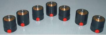 cilindro oleodinamico speciale, cilindri oleodinamici speciali, per impieghi industriali, su specifica del cliente, cilindri semplice effetto con ritorno a molla, alesaggio 40, stelo 22, corsa 5